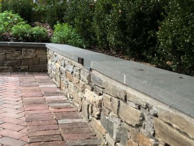 Fieldstone Wall With Raked Mortar Joints