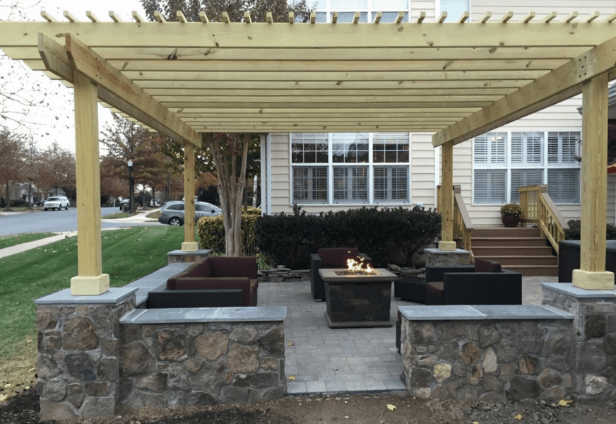 Outdoor Fire Pit Design Installation J J Landscape Management Inc