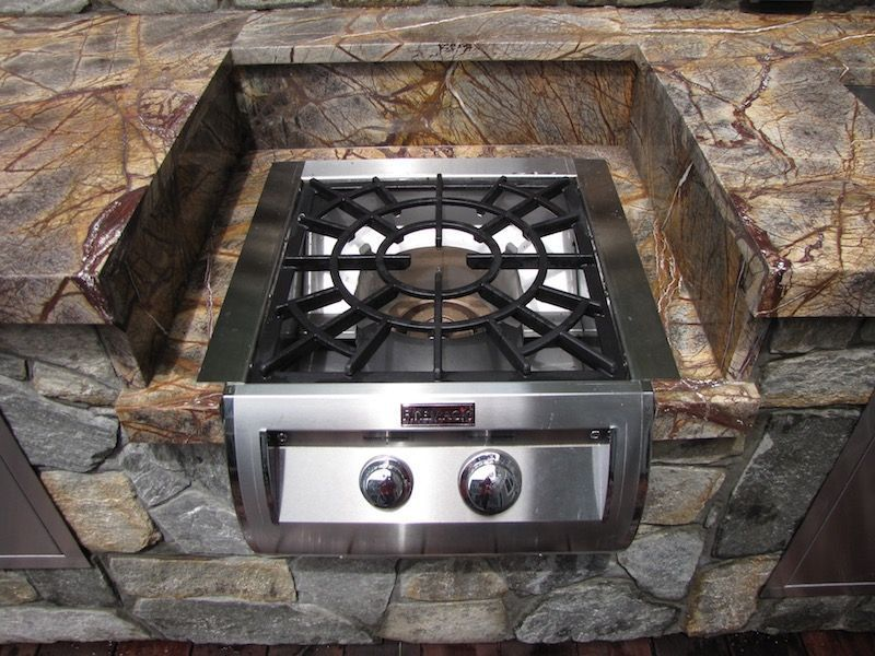 Outdoor Kitchen Built In Fire Magic Burner